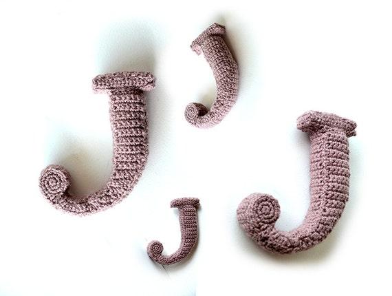 Letter J Haakpatroon 3d Alfabet 3d Woorden Decoratie Etsy
