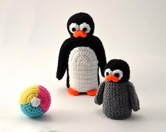 Penguins Crochet Pattern Set, Penguin Crochet Pattern, Penguin Amigurumi Pattern, Amigurumi Penguin Pattern, Animal Amigurumi Pattern, Zoo