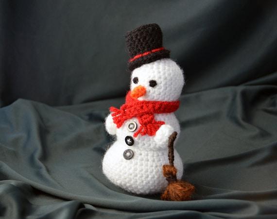 Frosty The Snowman Crochet Pattern Amigurumi Snowman Pattern Etsy