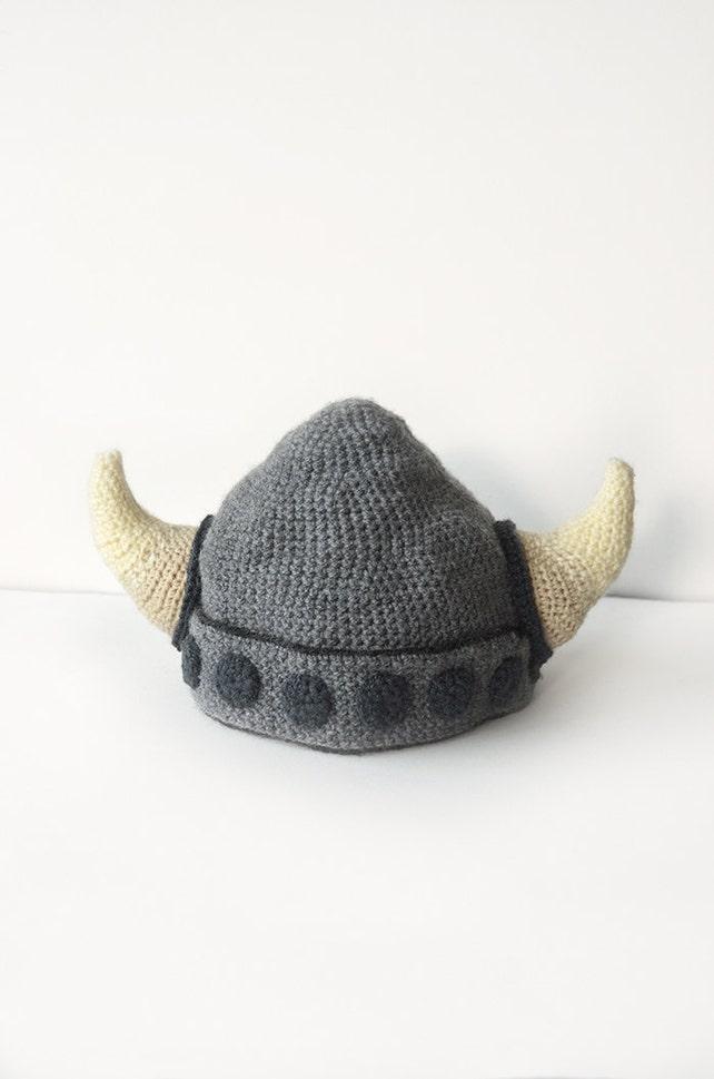 Viking Helmet Crochet Pattern Viking Hat Crochet Pattern | Etsy