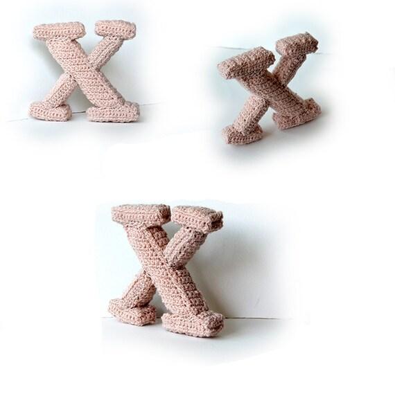 Letter X Haakpatroon 3d Alfabet 3d Letters 3d Woorden Etsy