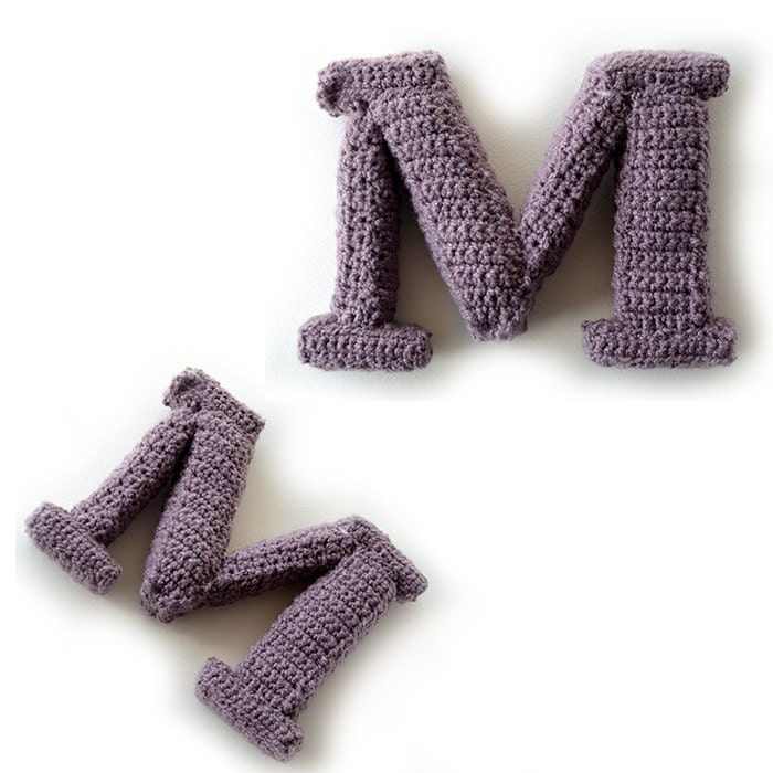 Letter M Crochet Pattern 3d Alphabet Crochet Pattern 3d Etsy