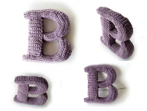 Letter B Haakpatroon 3d Alfabet Woorden Decoratie Etsy