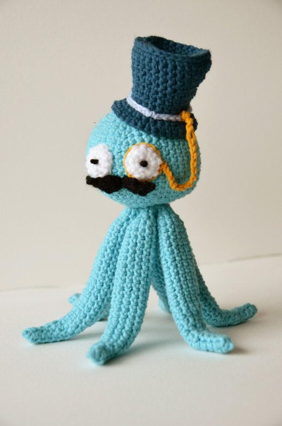 Octopus Like A Sir Crochet Pattern Steampunk Octopus Etsy