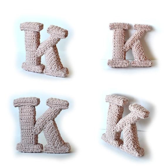 Letter K Haakpatroon 3d Alfabet Woorden Decoratie 3d Etsy