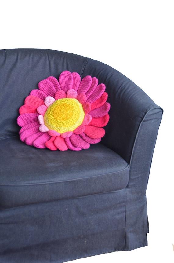 Daisy Pillow Crochet Pattern Flower Pillow Crochet Pattern Etsy
