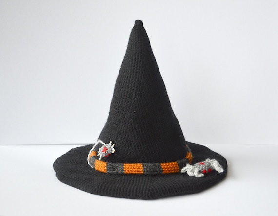 Witch Hat Crochet Pattern Halloween Hat Crochet Pattern Etsy