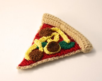 Pizza Crochet Pattern, Pizza Amigurumi Pattern, Amigurumi Pizza Crochet Pattern, Pizza Slice Crochet Pattern, Fast Food Crochet Pattern