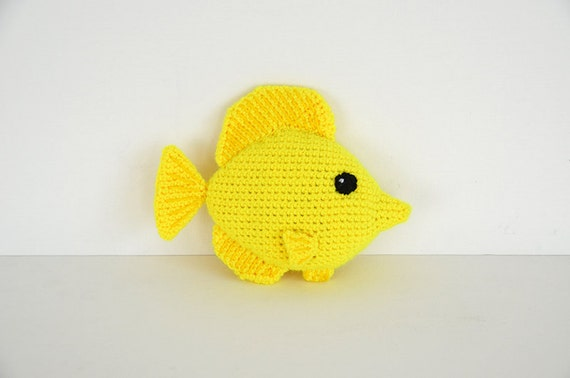 Yellow Tang Fish Crochet Pattern Tang Fish Amigurumi Pattern Etsy