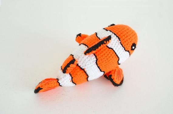 Clown Fish Crochet Pattern Crochet Clown Fish Pattern | Etsy