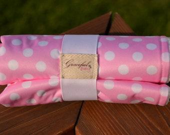 Pink & White Polkas - Waterproof Baby Changing Pad (Made to Order)