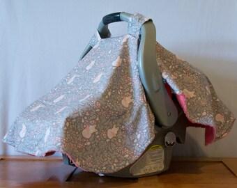 Dreaming Fox Car Seat Canopy