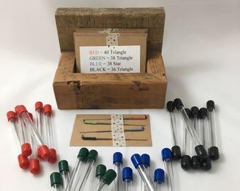 Fleting needles, doll making needles, needle felting needles, wool felting needles