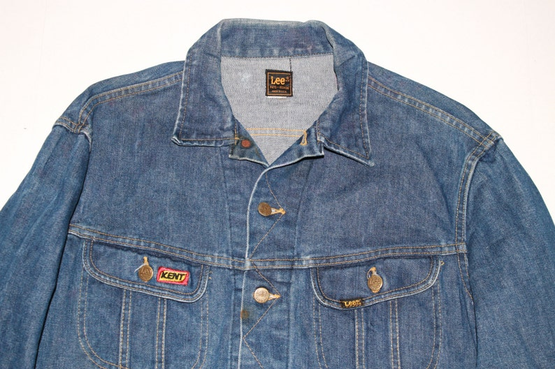 be4d82f96ff Vintage Lee Denim Jacket Classic Blue Jean jacket Retro