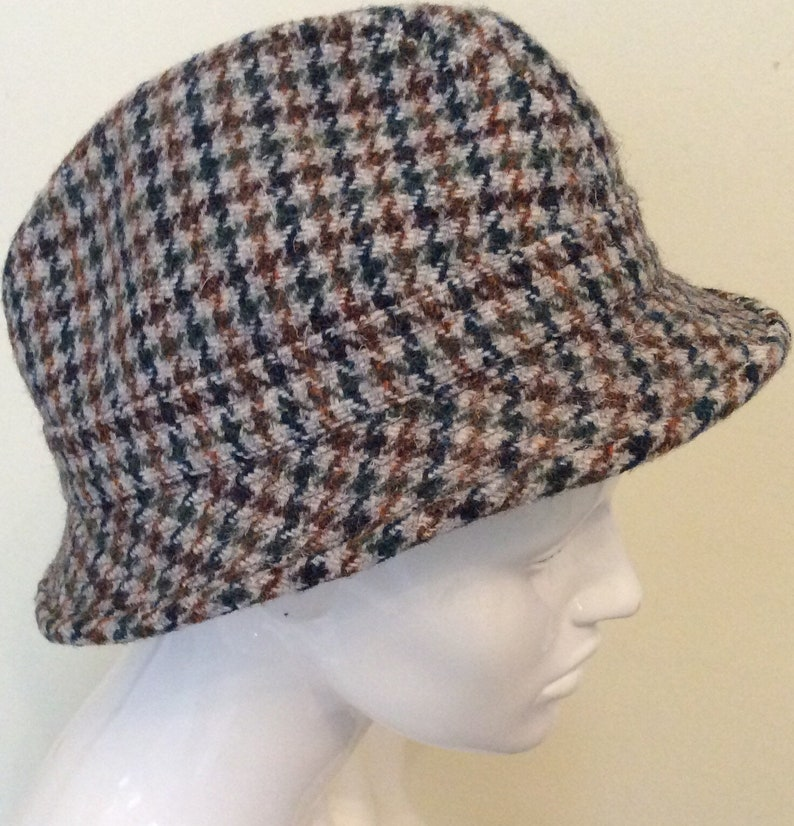 2d39b8d9ee97a Vintage Trilby Harris Tweed Hat Country style Retro Hand