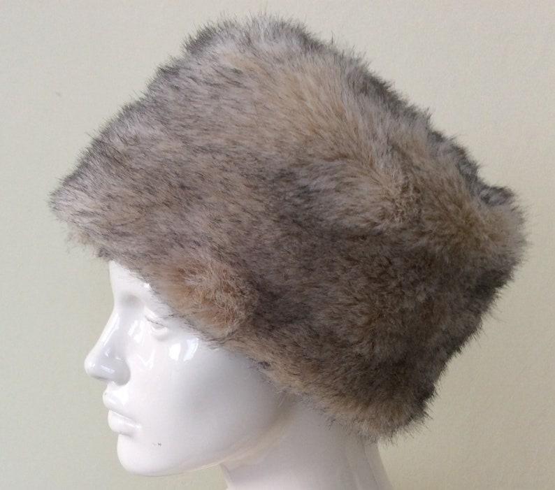 da6ff159cb10 Vintage Faux Fur Hat Russian Cossack Bucket Hat furry | Etsy