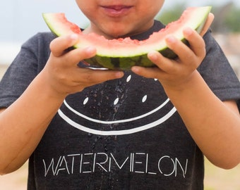 Kids Watermelon T-shirt- Infant, Toddler, Youth Shirt- Food Tee, Fruit, Kids Summer Shirt, I Love Watermelon, Watermelon Outfit