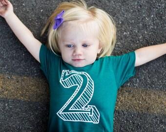 Kids Birthday Shirt- Baby, Toddler, Child T-shirt, Big Age Number
