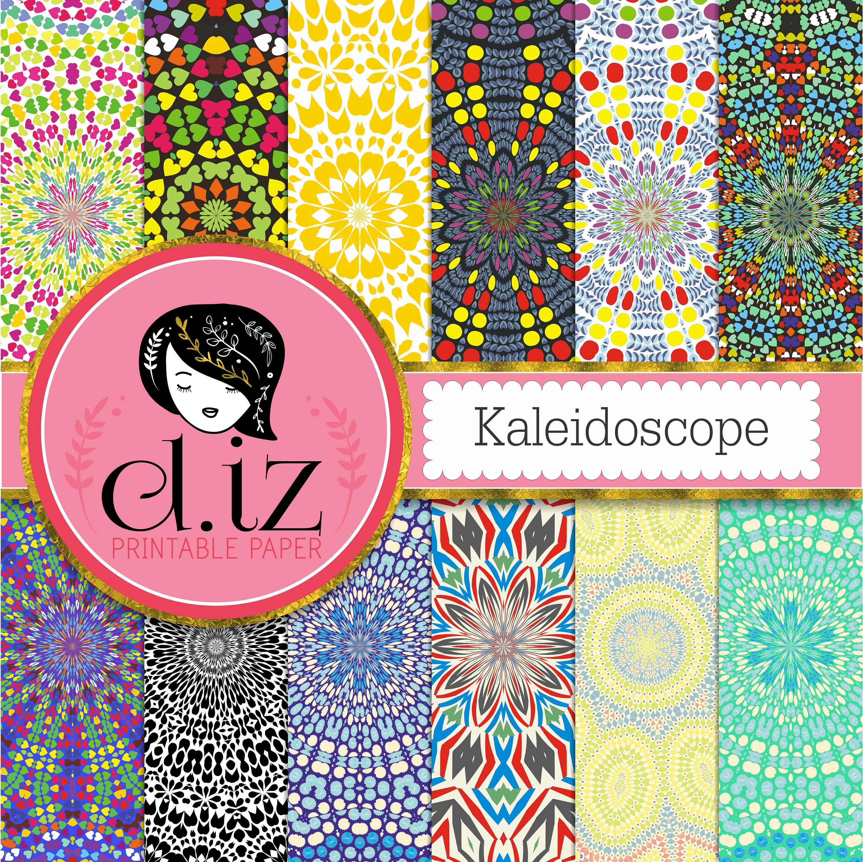 Kaleidoscope Ca: Kaleidoscope Digital Paper 'Kaleidoscope' Mosaic