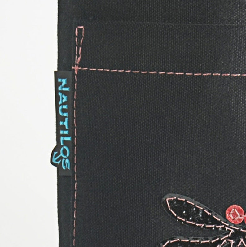 Canvas Yoga bag w zipper closure and outside pocket
