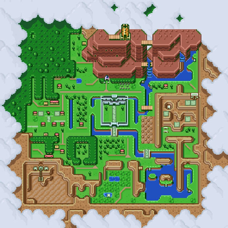 Hyrule Light World Map Cross Stitch Pattern Etsy