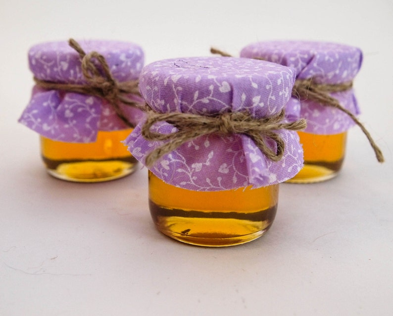75 Mini Mason Jar Favors in Light Purple and Lavender