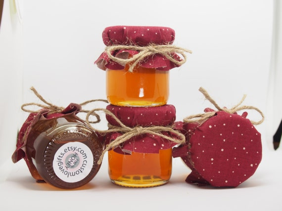 75 Mini Honey Pots Wedding Favors Small Glass Honey Jar Favors For