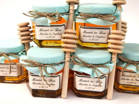 25 Personalized Glass Mason Jar Wedding Favors Rustic Mini Mason