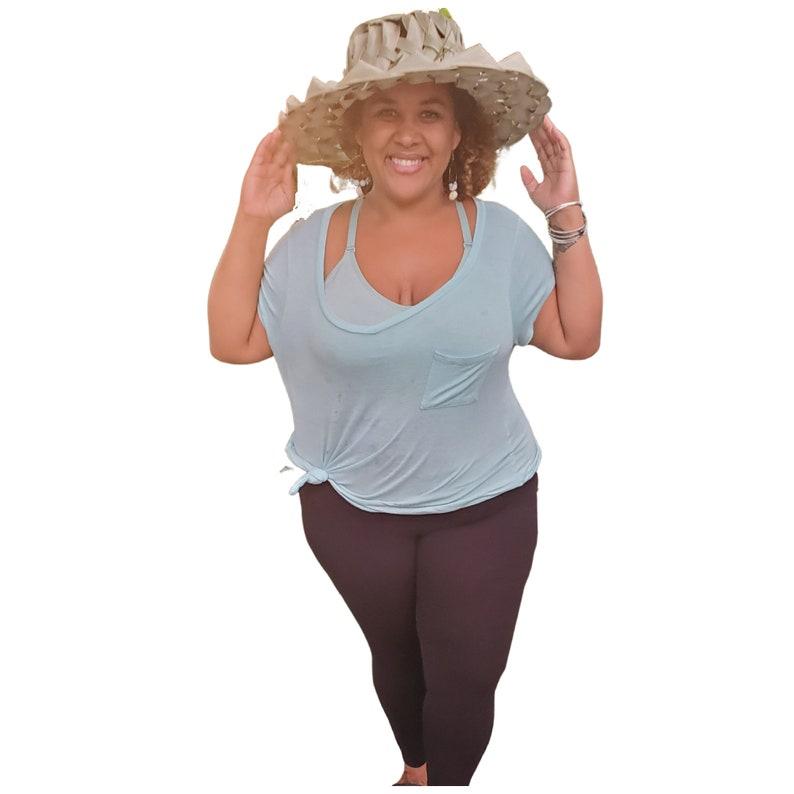 P\u0101pale coconut frond hat \u2022 handwoven Hawaiian hat \u2022 happy island style hat \u2022 green hat \u2022 woven hat \u2022 sun hat \u2022 thatched hat \u2022 vintage \u2022 Maui