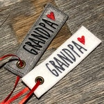 Personalized Gift Tag - Embroidered Christmas Felt Gift Tag - Custom Embroidered Gift Tag - Felt Holiday Gift Tag - Grandpa Name Gift Tag