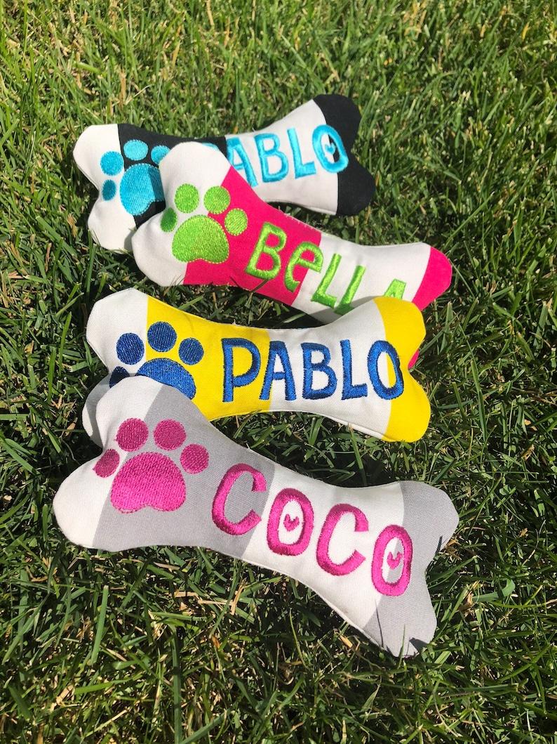 Personalized Dog Toy with Squeaker  Dog stocking stuffer idea image 0