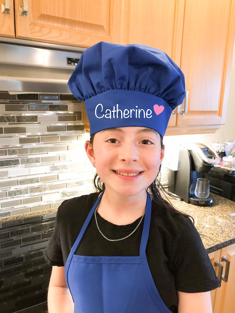 Kid Chef Hat  Personalized Kid Chef Hat  Embroidered Chef image 0