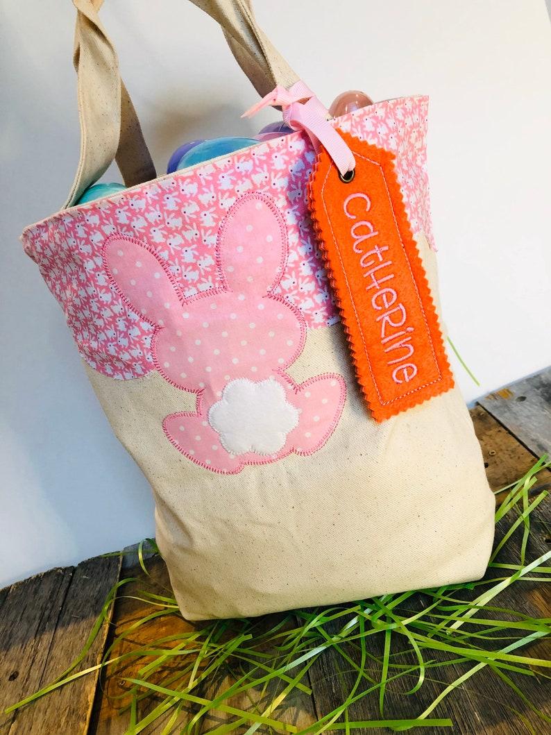 Personalized Easter Egg Bag  Personalized Easter Egg Basket  image 0