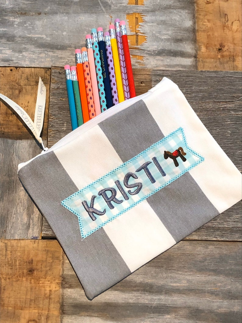 Personalized Pencil Case  Personalized Kids Pouch  image 0