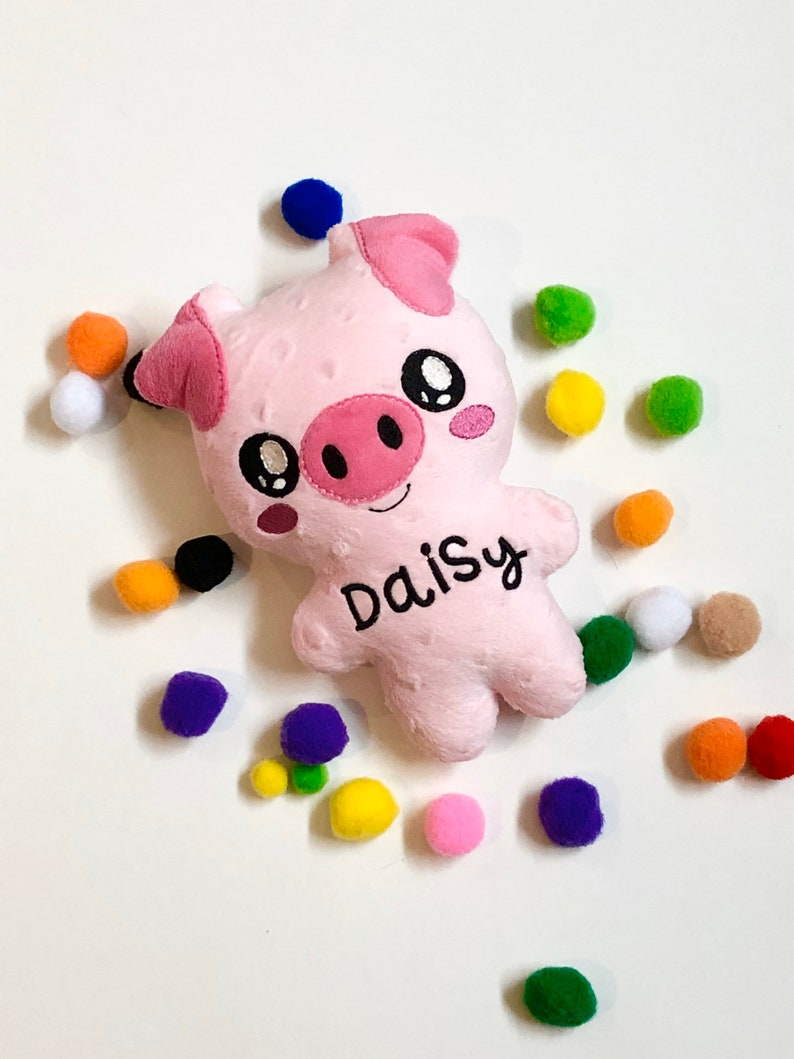 Pink Pig Stuffed Animal  Pig Soft Toy  Personalized Kid image 0