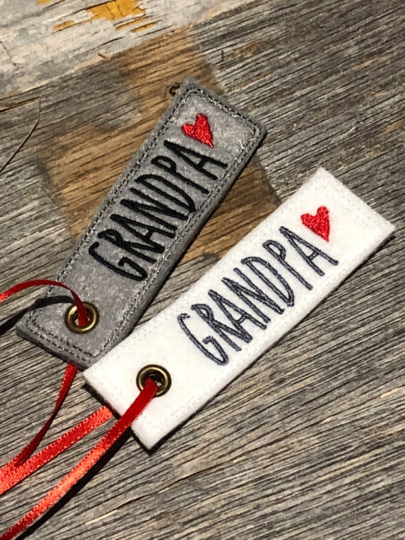 Personalized Gift Tag  Embroidered Christmas Felt Gift Tag  image 0