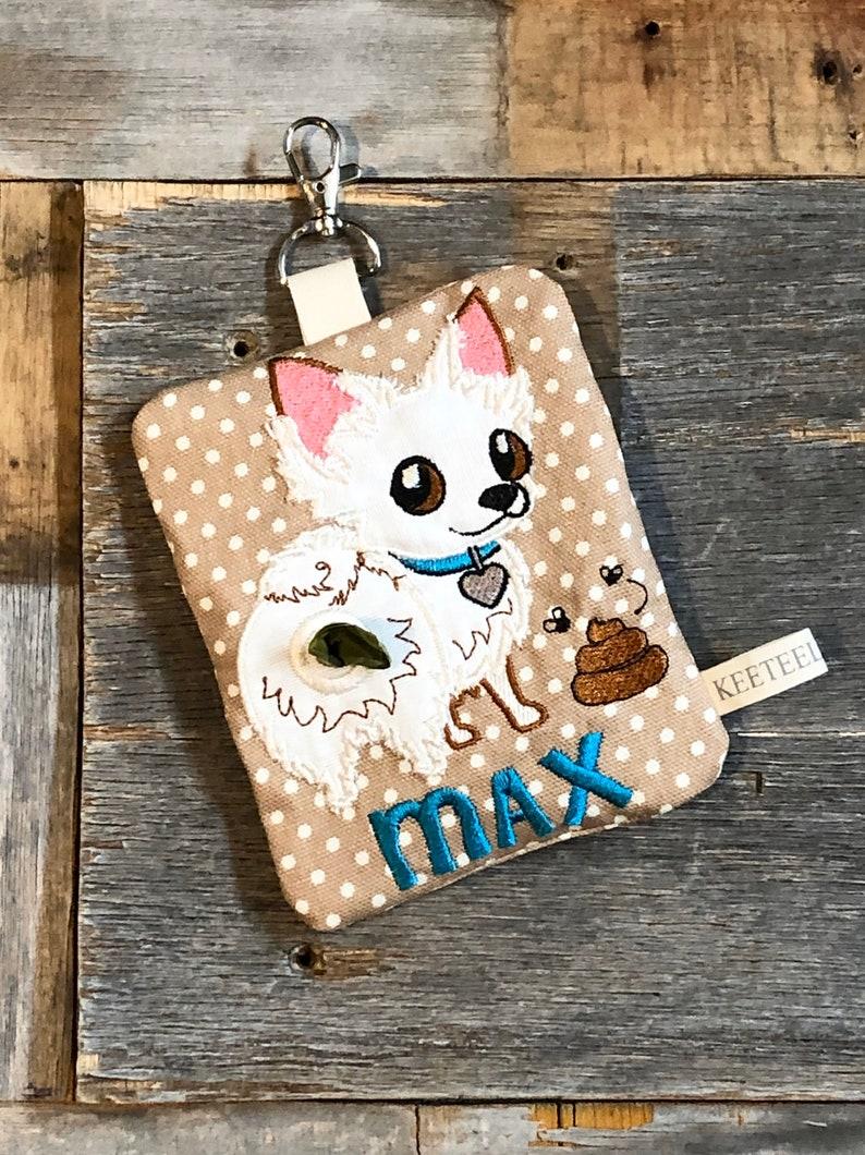 Personalized Poop bag holder  Dog Poop bag dispenser  image 0