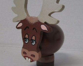 Vintage Moose with bunny teeth Peg doll Peg Animal