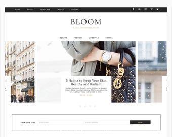 "Wordpress Theme, Wordpress Responsive Blog Theme Design ""Bloom"" - Genesis Website Theme"