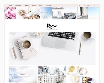 "Wordpress Theme, Wordpress Ecommerce Theme Responsive Blog Theme Design ""Reese"" - Genesis Website Theme"