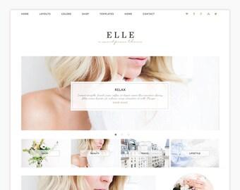 "Wordpress Theme - Wordpress Ecommerce Theme - Genesis Theme - ""Elle"" Instant Digital Download"