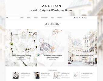 "NEW Wordpress Theme - Wordpress Ecommerce Theme - Fashion Blogger Theme - Genesis Theme - ""Allison"" Instant Digital Download"