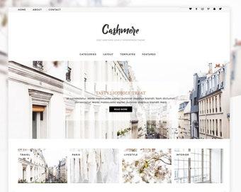 "Wordpress Theme, Wordpress Ecommerce Theme Responsive Blog Theme Design ""Cashmere"" - Genesis Website Theme"