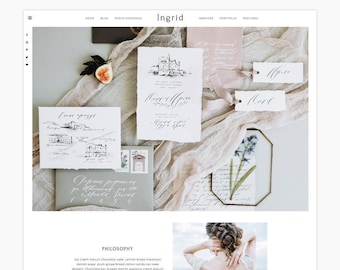 Ingrid - Wordpress Theme - Wordpress Genesis Theme // Photography, Fashion & Lifestyle Blogs