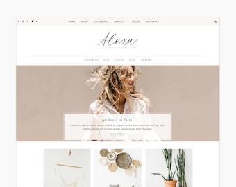 Alexa - Wordpress Theme - Wordpress Genesis Theme // Photography, Fashion & Lifestyle Blogs