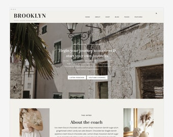 NEW! Brooklyn - Wordpress Theme - Wordpress Genesis Theme // Photography, Fashion & Lifestyle Blogs