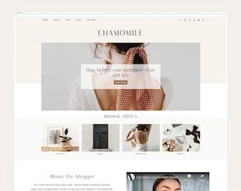 NEW! Chamomile - Wordpress Theme - Wordpress Genesis Theme // Photography, Fashion & Lifestyle Blogs
