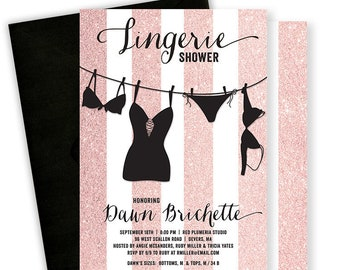 Lingerie shower invitation Etsy