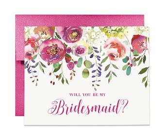 Bridesmaid Card Will You Be My Bridesmaid Card Bridesmaid Proposal Will You Be My Maid of Honor Will You Be My Matron of Honor Card CW0010