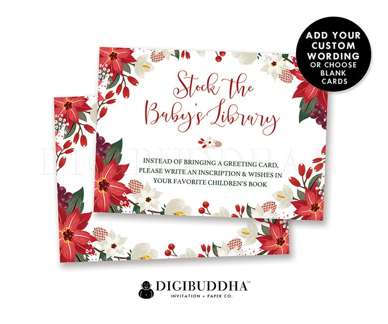 BABY SHOWER INSERT Card Christmas Custom Invitation Enclosure | Etsy